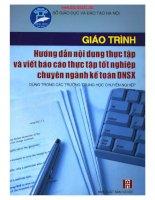 Giáo trình hướng dẫn nội dung thực tập và viết báo cáo thực tập tốt nghiệp chuyên ngành kế toán DNSX