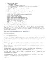 Những câu hỏi xin việc bằng tiếng anh
