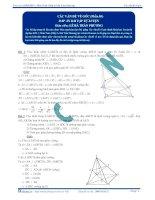 Đáp án bài tập tự luyện Các vấn đề về góc p3