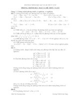Chuyên đề Phương trình bậc hai và Hệ thức Vi-ét