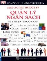 Cẩm nang quản lý hiệu quả   quản lý ngân sách
