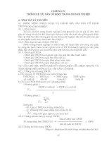 Chương 4. Thống kê tài sản cố định trong doanh nghiệp