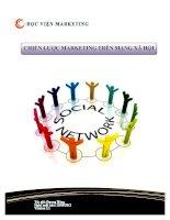 Chiến lược marketing trên mạng xã hội -nguyen trong tho