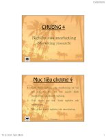 CHƯƠNG 4 nghiên cứu marketing (marketing research)