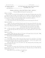 KỲ THI CHỌN HỌC SINH GIỎI TỈNH LỚP 12 NĂM HỌC 2011 - 2012                              Môn thi: GIÁO DỤC CÔNG DÂN LỚP 12 THPT - BẢNG B