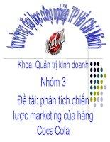 Báo cáo phân tích chiến lược marketing của hãng coca cola