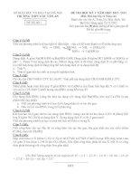 ĐỀ THI HỌC KỲ I  NĂM HỌC 2012- 2013 Môn Hoá học lớp 11 Nâng cao TRƯỜNG THPT CHU VĂN AN