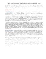 Ôn TN12-Một số bài toán liên quan đến hoạt động XNK