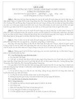 QUY CHẾ THI TUYỂN CÁC CHỨC DANH LÃNH ĐẠO VÀ ĐIỀU HÀNH CÔNG TY CỔ PHẦN XYZ
