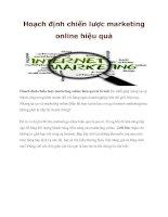 Hoạch định chiến lược marketing online hiệu quả