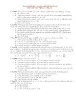 1000 câu hỏi trac nghiem VL ôn thi vào ĐHCĐ Phần 11