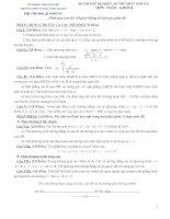 đề thi thử đại học môn toán khối B lần thứ nhất