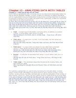 Công thức và hàm excel 2007 Anh - Việt của Paul Mcfedries (phần III)