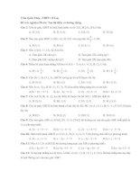 Bài tập trắc nghiệm hình học 10 (đường thẳng)