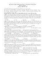 Đề+Đáp Án Thi ĐH Hóa Khối A 09-10