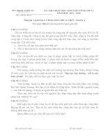 KỲ THI CHỌN HỌC SINH GIỎI TỈNH LỚP 12NĂM HỌC 2011 - 2012                              Môn thi: GIÁO DỤC CÔNG DÂN LỚP 12 THPT - BẢNG A
