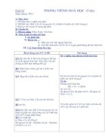 Giáo Án hóa học 8 Từ Tiết 23 đến Tiết 45