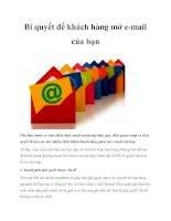 Bí quyết để khách hàng mở e mail của bạn