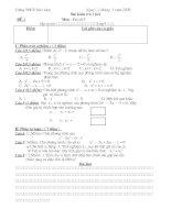 bài kiểm tra 1 tiết chương 4 PTBH