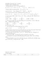 đề thi học kỳ 2 - 8 ( 08 - 09 )đê2