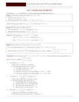 Các dạng bài toán liên quan đến  khảo sát hàm số