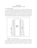 LÝ THUYẾT lập TRÌNH cơ bản (8051)  CHƯƠNG 4
