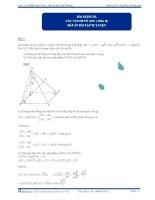 Đáp án bài tập tự luyện Các vấn đề về góc p2