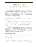 Chương 8 tuyển dụng, lựa chọn và đào tạo nhân viên bán hàng