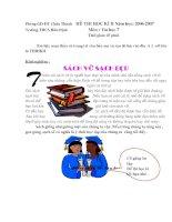 Đề thi và đáp án HK 2 tin học 7
