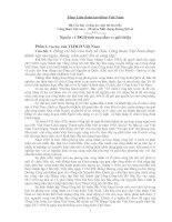Bộ Câu hỏi  và đáp án cuộc thi tìm hiểu CĐ Việt Nam