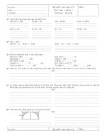 Bộ đề ôn tập thi toán lớp 5 HKII
