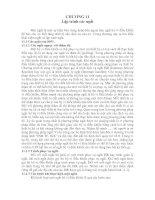 LÝ THUYẾT lập TRÌNH cơ bản (8051)  CHƯƠNG 11