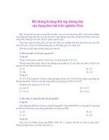 8 Dạng bài tập vận dụng làm bài tập trắc nghiệm Hóa Học