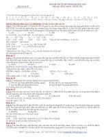 Giải chi tiết đề thi hoá khối a năm 2009 (hay)