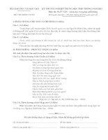 ĐỀ THI TỐT NGHIỆP TRUNG HỌC PHỔ THÔNG NĂM 2011 Môn NGỮ VĂN − Giáo dục trung học phổ thônG