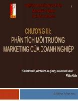 Chương III phân tích môi trường marketing của doanh nghiệp