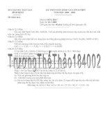 Tuyển vào 10 Bình Định 2009 (Có lời giải)