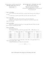 ĐỀ THI HỌC KỲ I  NĂM HỌC 2012- 2013 Môn Địa lý lớp 11 Nâng cao TRƯỜNG THPT CHU VĂN AN