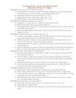 1000 câu hỏi trac nghiem VL ôn thi vào ĐHCĐ Phần 5.doc