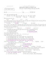 Bộ đề thi  tốt nghiệp hóa học 12 nâng cao