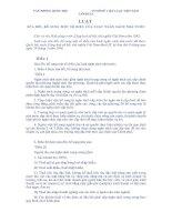 Luật sửa đổi, bổ sung một số điều của Luật Ngân sách Nhà nước