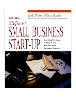 Steps to Small business start-up: everything you need to know