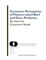 2004 02 consumer perceptions pasture raised beef and dairy products internet consumer study
