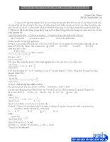 Nhẩm các hệ số cân bằng trong phương trình hóa học
