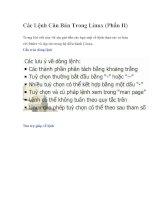 Các lệnh căn bản trong linux (phần II)
