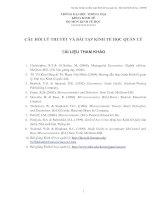 Câu hỏi lý thuyết và bài tập kinh tế học quản lý