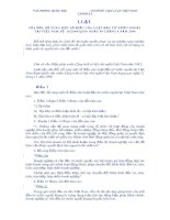 Luật sửa đổi, bổ sung một số điều của Luật Đầu tư nước ngoài tại Việt Nam