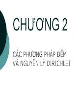Chương 2 - các phương pháp đếm và nguyên lý Dirichlet