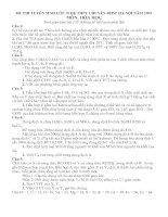 đề thi vào chuyên hóa ĐHSP hà nội 2009-2010