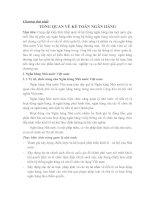 KẾ TOÁN NGÂN HÀNG CHƯƠNG 1 TỔNG QUAN về kế TOÁN NGÂN HÀNG